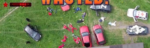 GTA 2 ricreato dal vivo usando un drone per le riprese dall'alto - Notizia