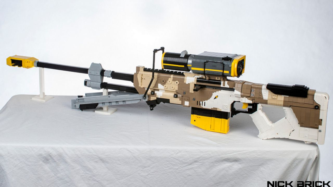 Halo 5 Guardians: Un appassionato ha ricreato il fucile Nornfang con i Lego