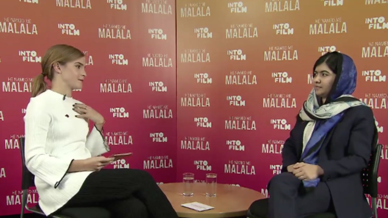 He Named me Malala: Emma Watson incontra Malala ed è subito un successo