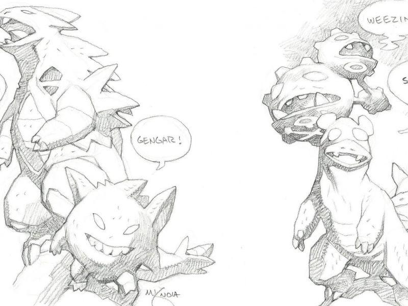 Hellboy: l'autore Mike Mignola disegna Pikachu, Charmander, Gengar e tanti altri Pokémon