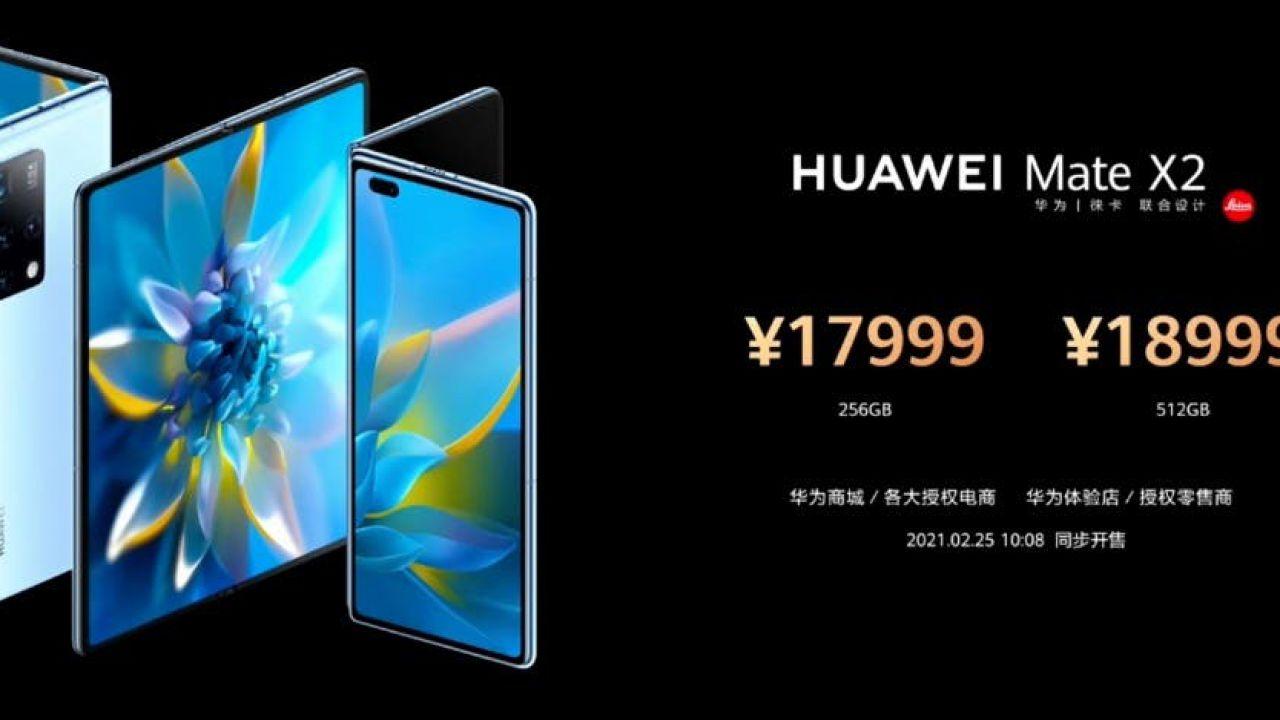 Huawei Mate X2 è ufficiale in Cina: nuova piegatura, chip Kirin 9000 e fotocamera Leica