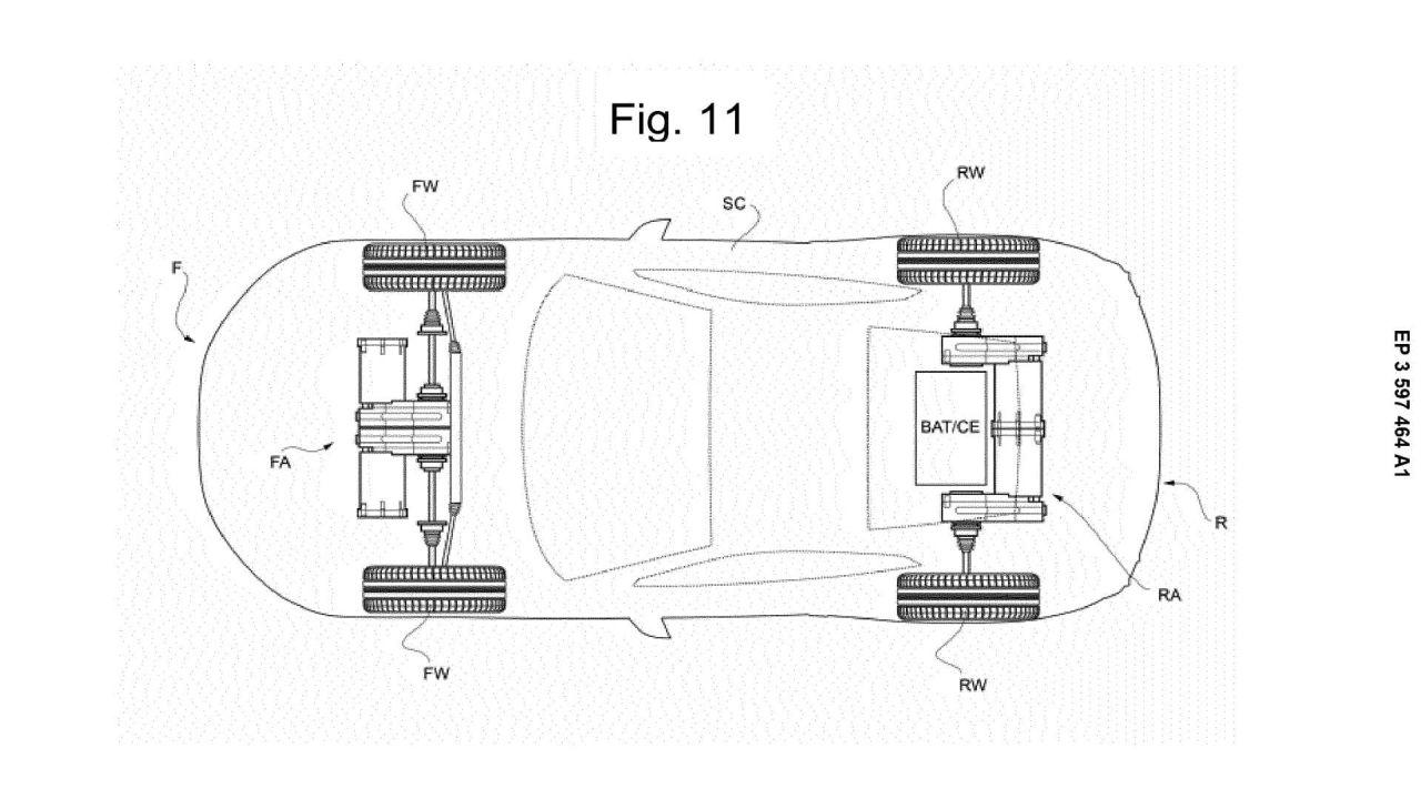 I brevetti ufficiali della nuova Ferrari elettrica con quattro motori AWD