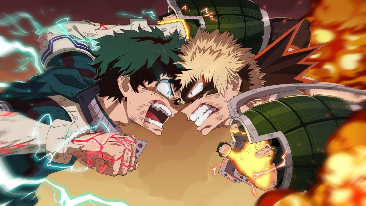 I doppiatori di Deku e Bakugo parlano del finale di Heroes Rising