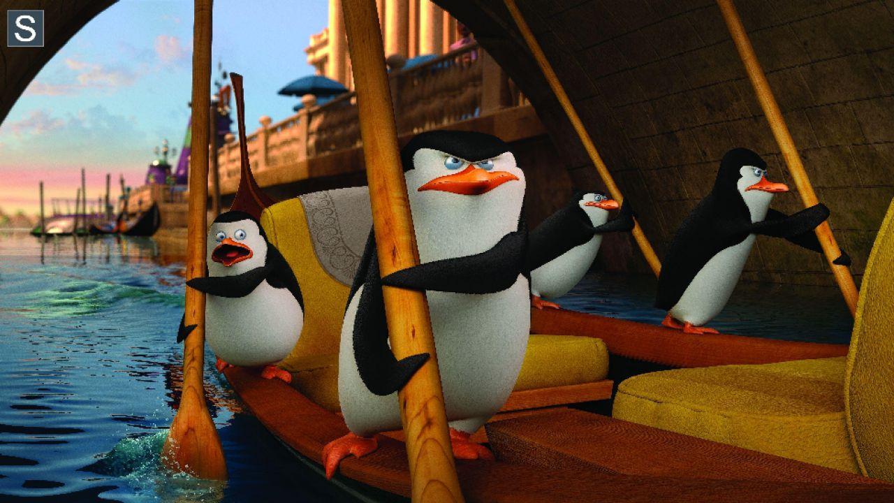 I pinguini di madagascar un poster promozionale dal film