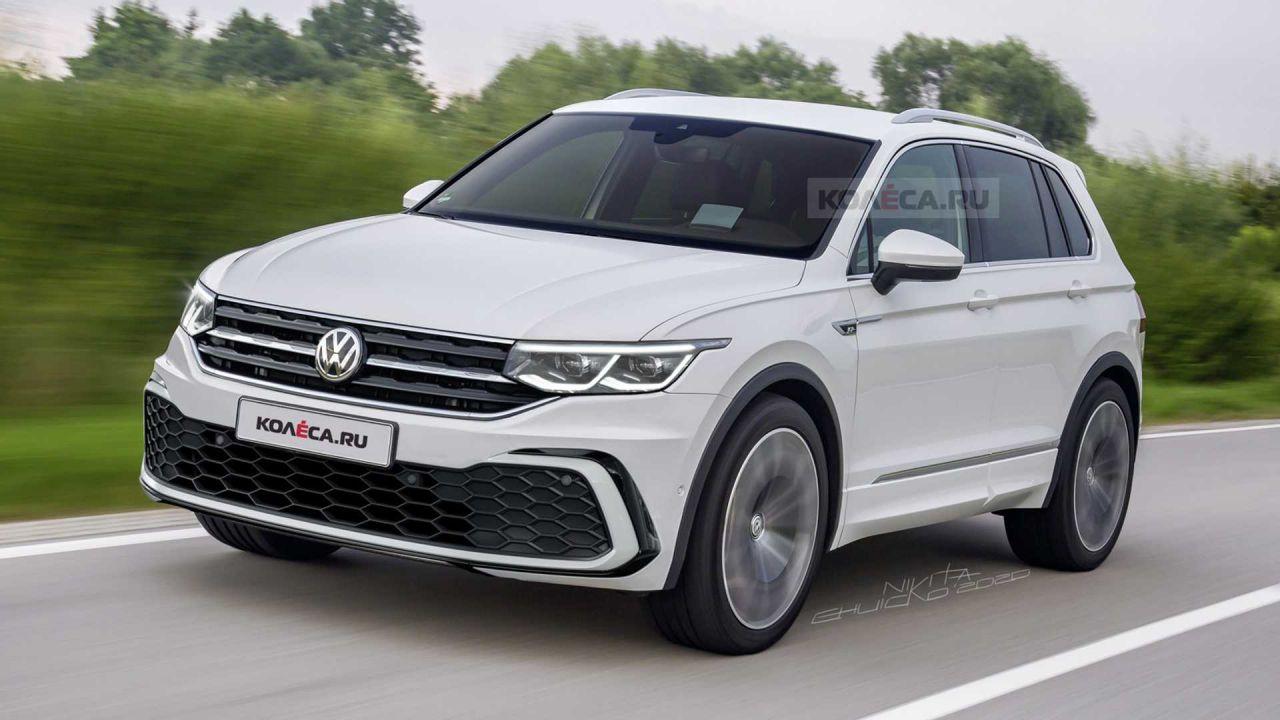 I render della nuova Volkswagen Tiguan 2020 in versione R-line