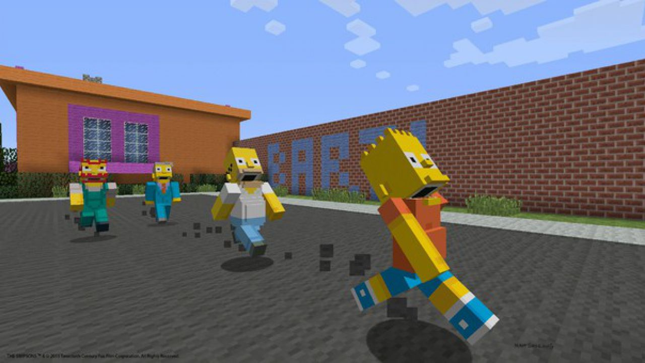 I Simpson invadono anche le versioni PlayStation di Minecraft