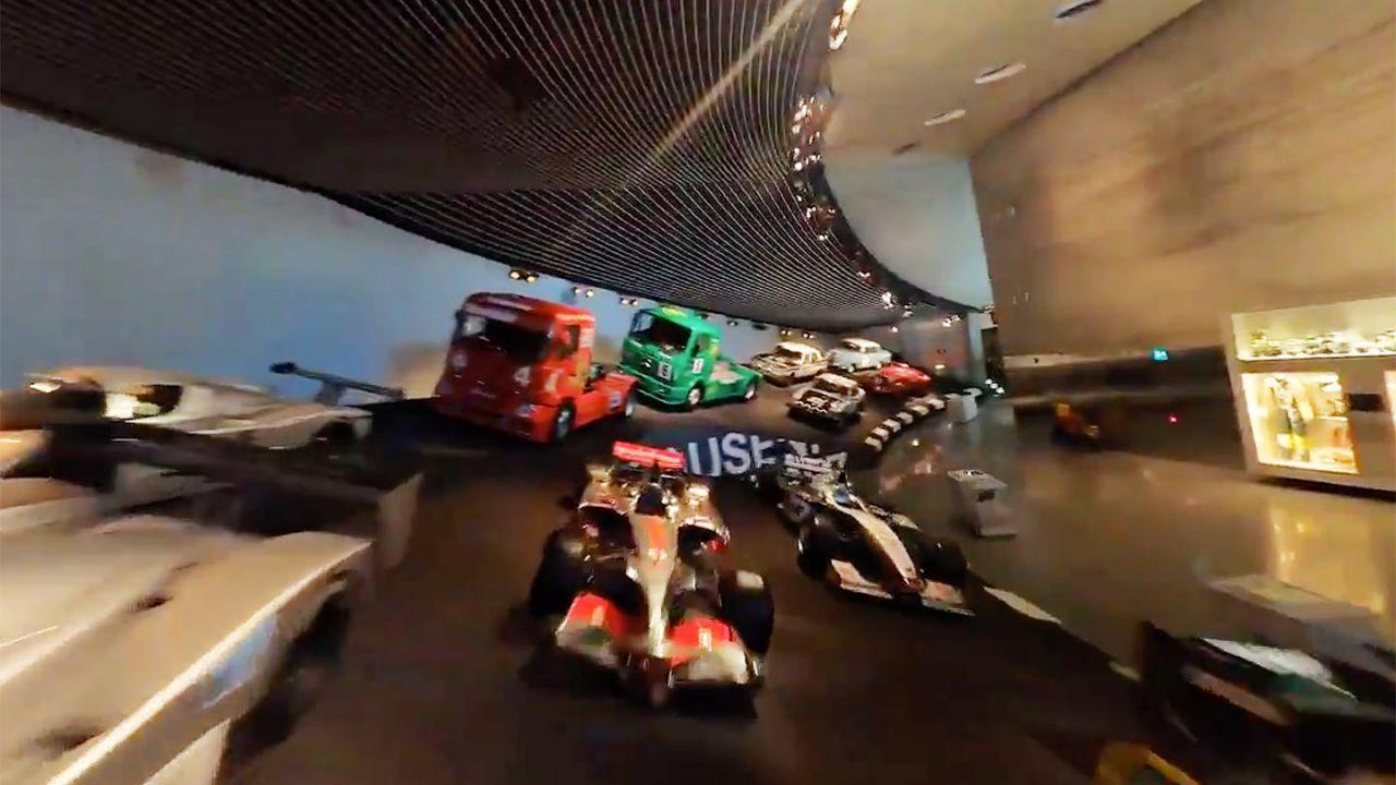 Il (bellissimo) video del museo Mercedes mostrato da un drone