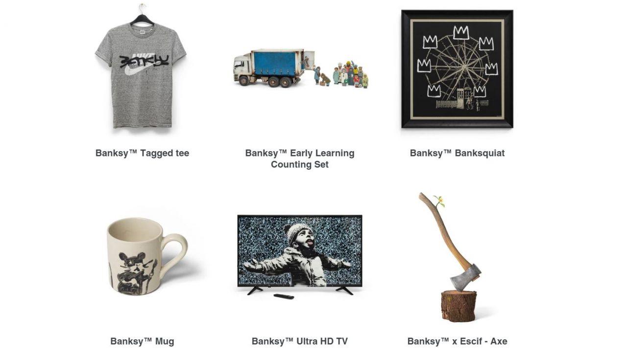 Il bizzarro store online di Banksy, gli oggetti partono da 10£