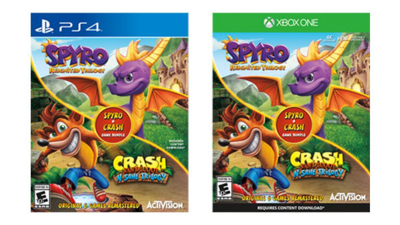 Il bundle Crash Bandicoot e Spyro Trilogy compare su Amazon