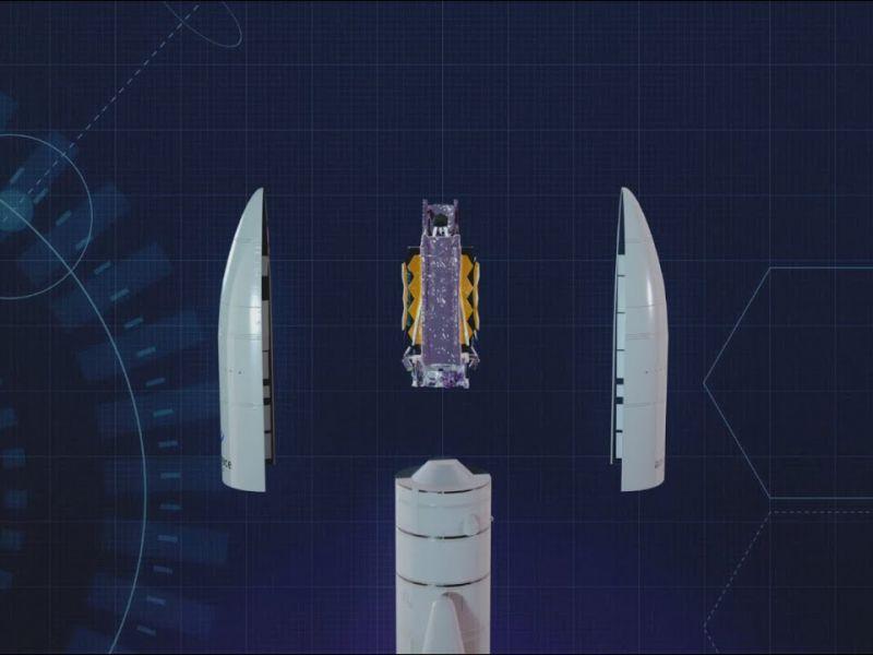 Il lancio del telescopio James Webb sempre più vicino: è stato completamente piegato