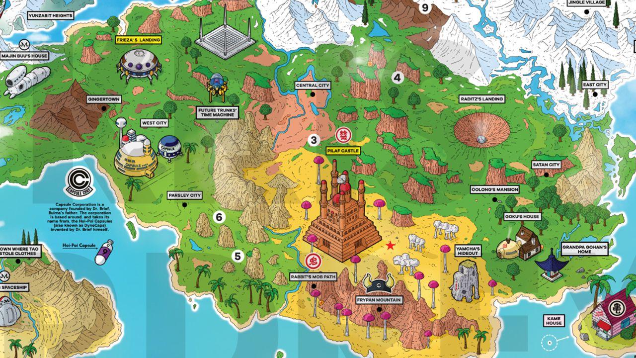 Cartina Mondo Naruto.Il Mondo Di Dragon Ball Diventa Una Cartina Studiamo La Mappa Creata Da Un Fan