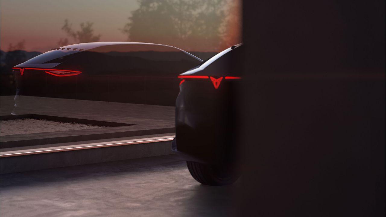 Il nuovo crossover elettrico CUPRA si mostra in un'immagine ufficiale