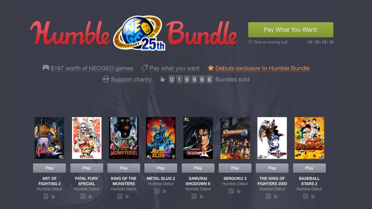 Il nuovo Humble Bundle è dedicato ai giochi Neo Geo
