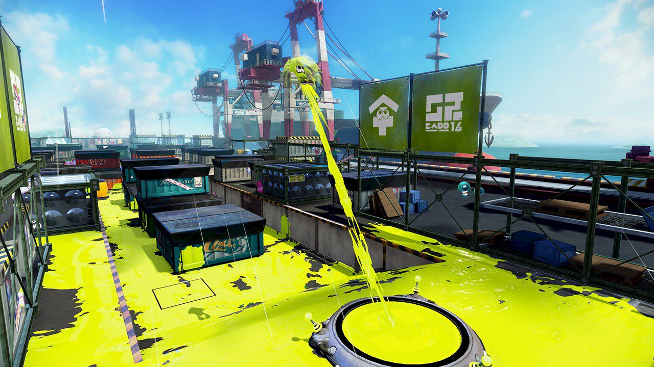 Il pennello di Splatoon in azione in un video