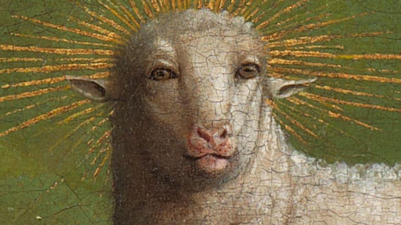 Il polittico 'Adorazione dell'Agnello' dei fratelli Van Eyck sta inquietando il mondo