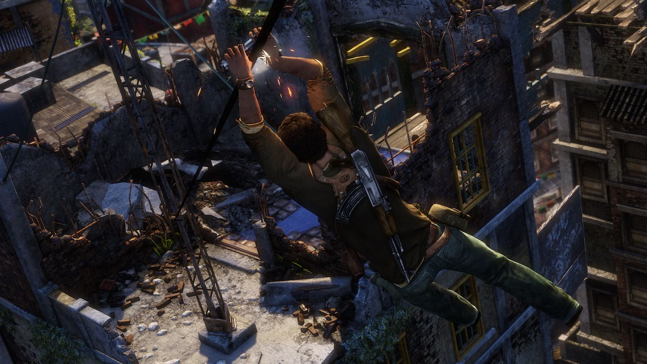 Immagini tratte dalla versione di Uncharted 2 inclusa in Uncharted The Nathan Drake Collection