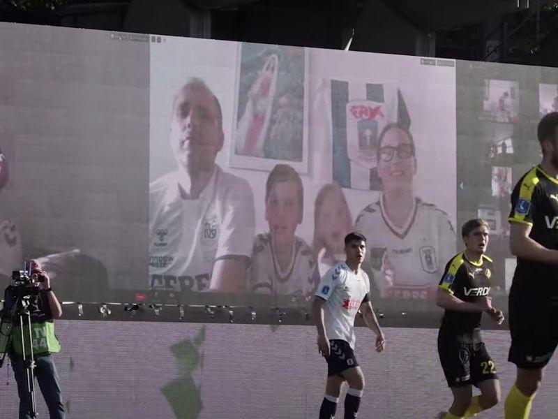 In Danimarca una squadra di calcio ha usato Zoom per far tornare i tifosi allo stadio