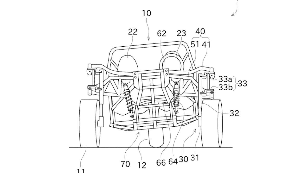 Kawasaki sta sviluppando una vettura a tre ruote con caratteristiche uniche