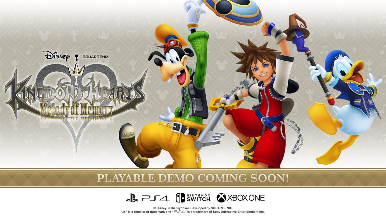 Kingdom Hearts Melody of Memories avrà una demo, ecco quando sarà disponibile