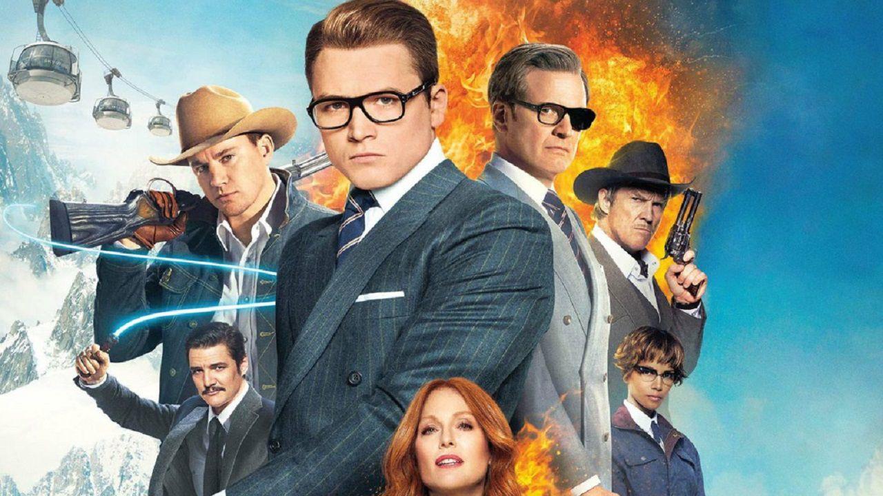 Kingsman: Il cerchio d'oro, anche Elton John nella nuova foto ufficiale del cast