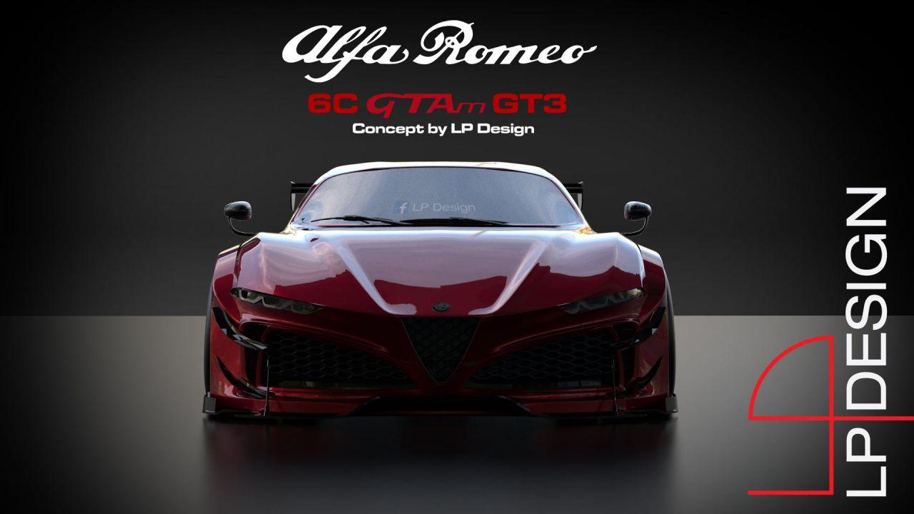 L'Alfa Romeo 6C diventa GTAm GT3 in questo splendido concept