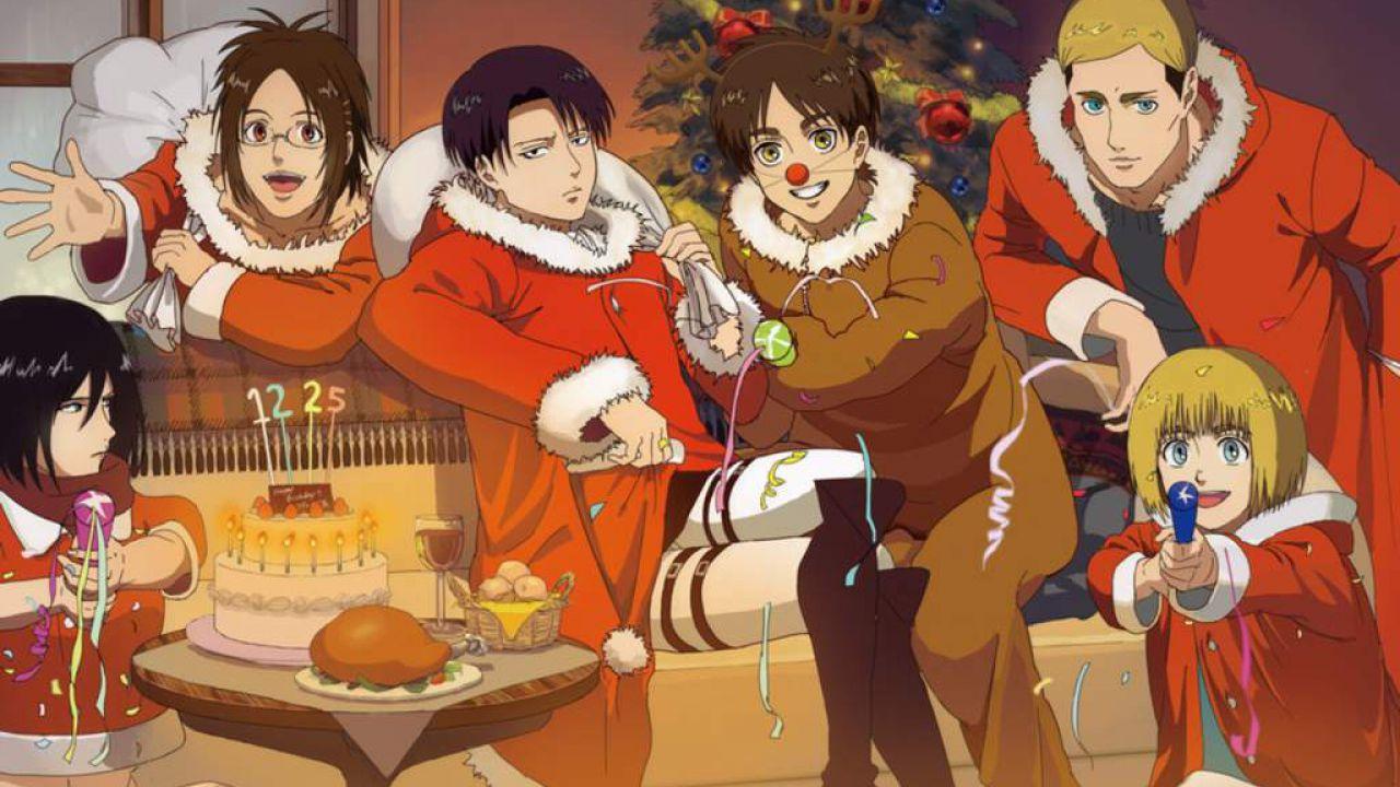 L'Attacco dei Giganti: l'Armata Ricognitiva augura buon Natale in questa illustrazione