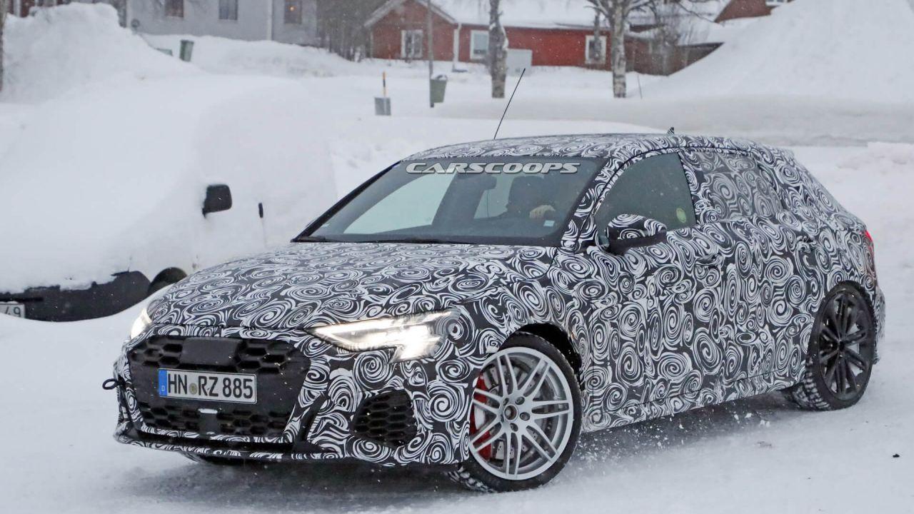 L'Audi RS3 Sportback di prossima generazione offrirà 444 cavalli e funzione drift