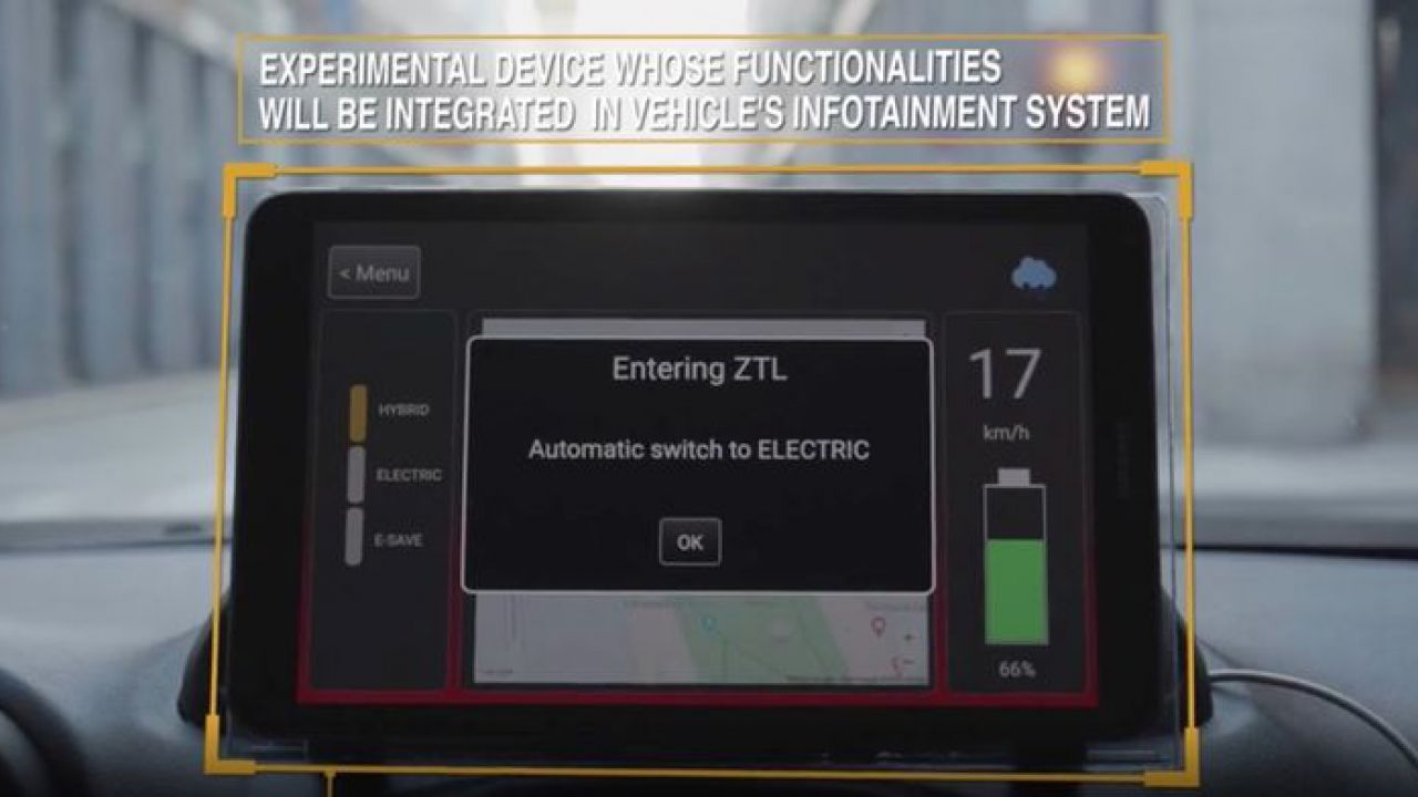 L'auto intelligente secondo FCA: passa in automatico all'elettrico quando entra nelle ZTL