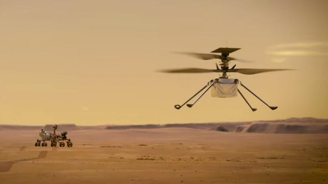 L'elicottero attaccato al rover Perseverance è prontissimo all'avvio