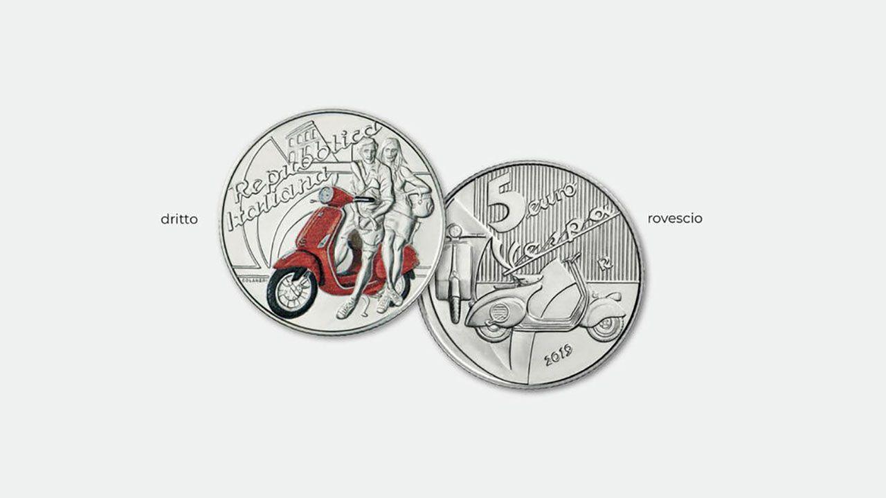 L'iconica Vespa diventa oggi una moneta da collezione