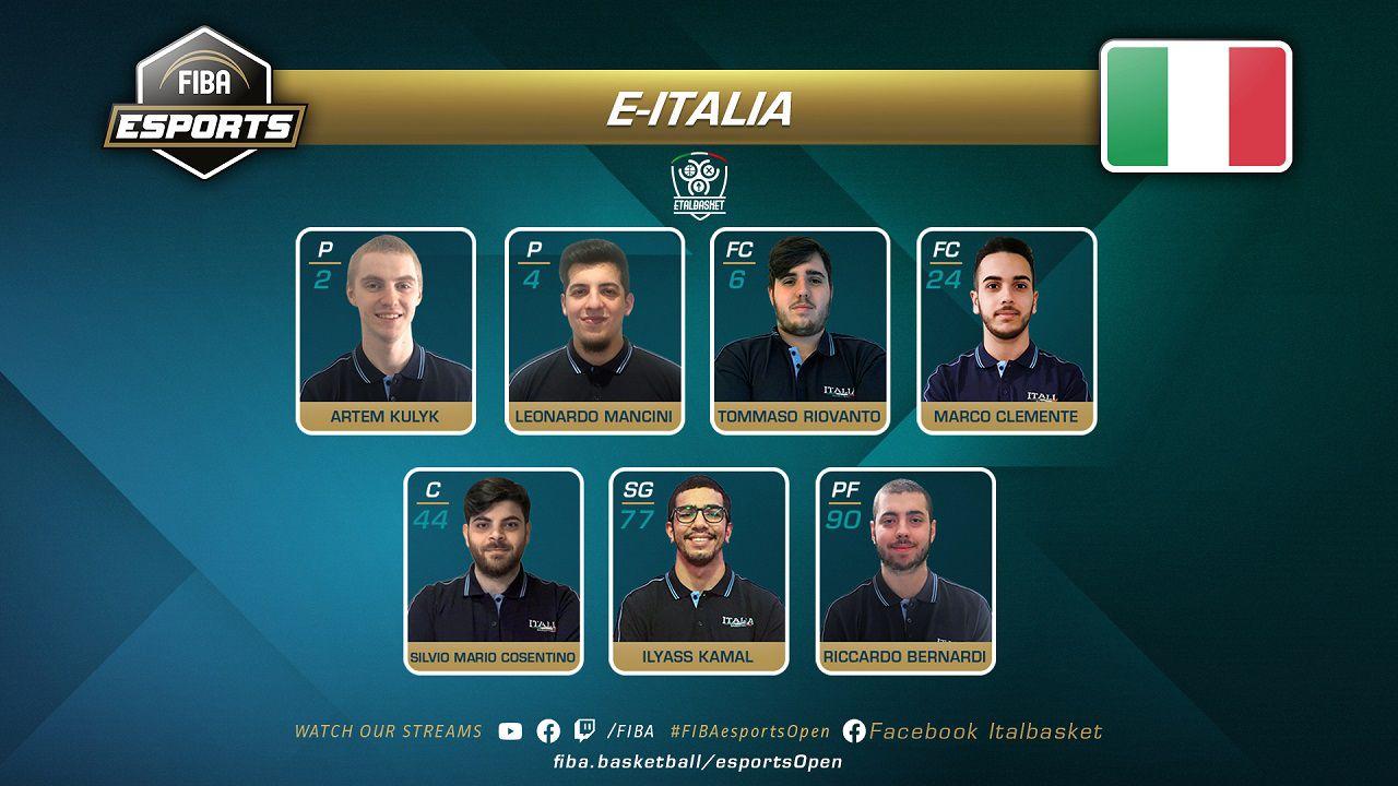 L'Italia partecipa alla seconda edizione del FIBA Esports Open