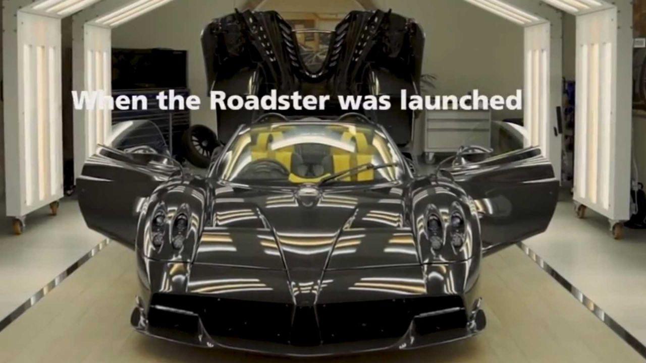 L'ultima Pagani Huayra Roadster è un incredibile bolide in carbonio