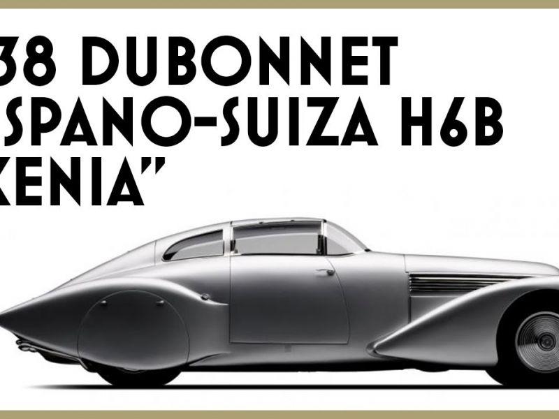 La magnifica Dubonnet Hispano-Suiza del '38 monta il motore di un aereo