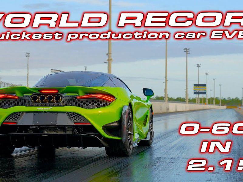 La McLaren 765LT è da record: chiude il quarto di miglio in 9,3 secondi!