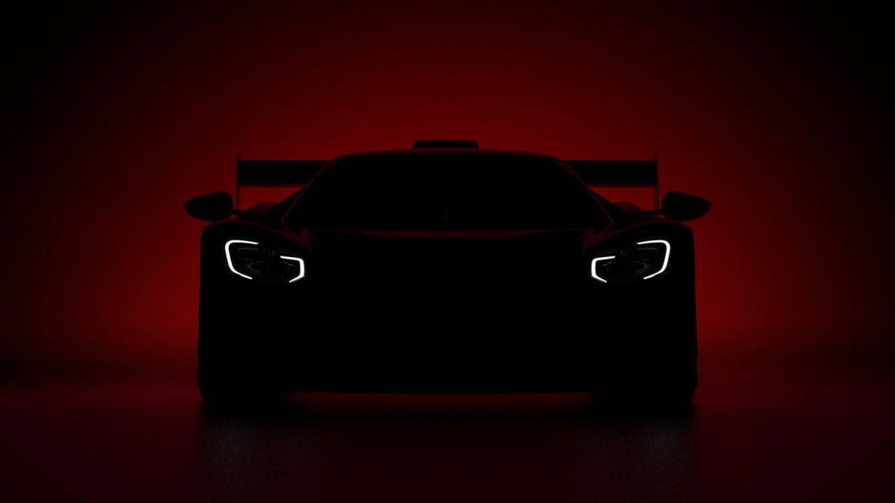 La nuova Ford GT da competizione in una prima foto teaser ufficiale