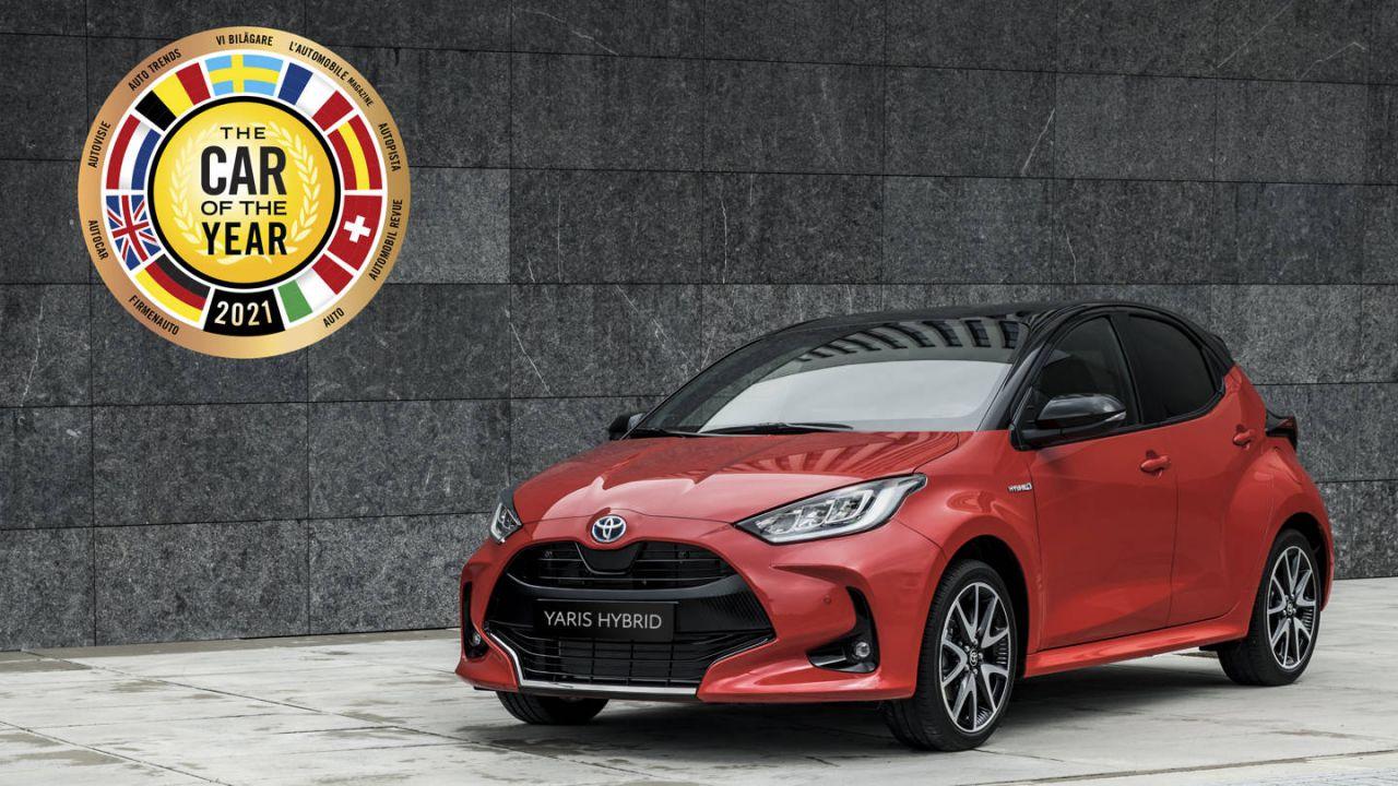La nuova Toyota Yaris è stata eletta Auto dell'anno 2021