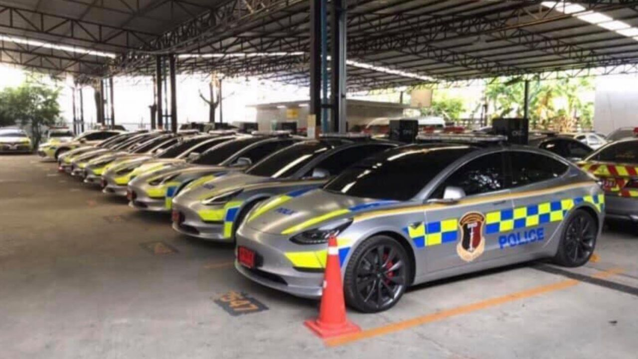 La Polizia tailandese acquista 7 Tesla Model 3: spesi 3 milioni di dollari
