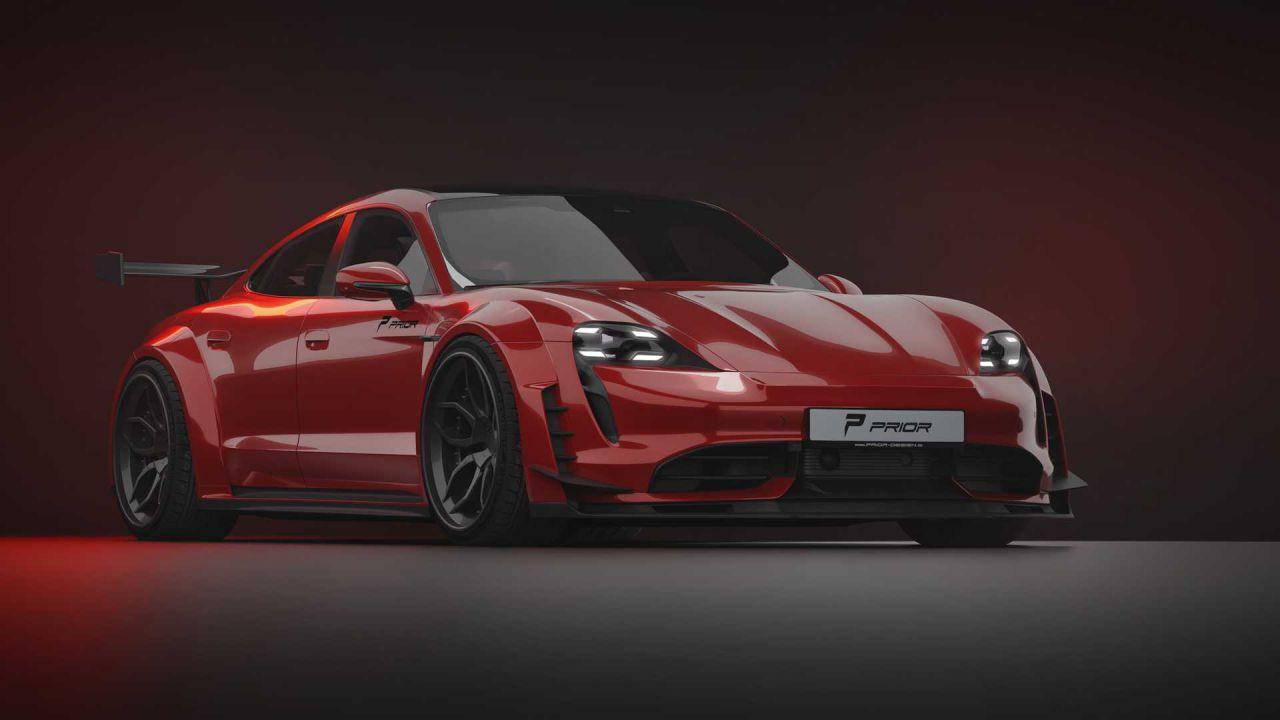 La Porsche Taycan diventa selvaggia grazie al kit di Prior Design