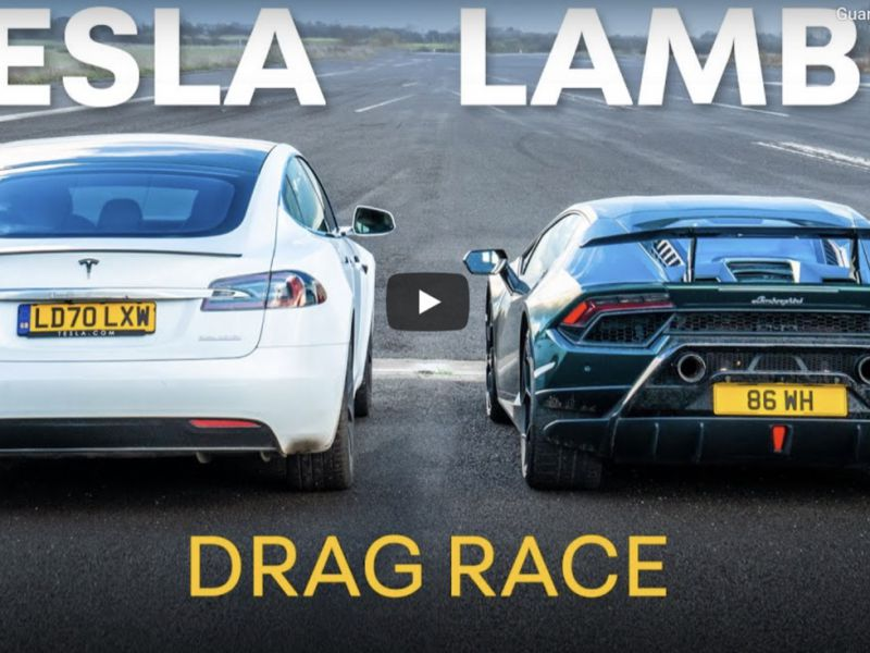 Lambo Huracan Perfomante umilia Tesla Model S Cheetah sul dritto, ma c'è un problema
