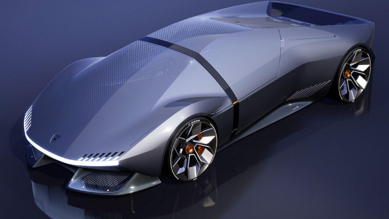 Lamborghini E_X: una hypercar elettrica che corre verso il futuro