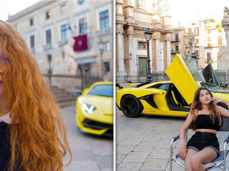 Lamborghini rimuove le foto con le bambine a Palermo dopo le accese polemiche