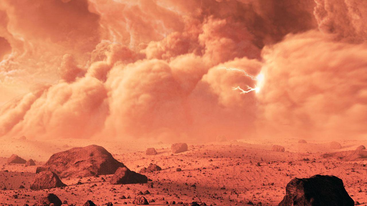 Le tempeste di polvere marziane potrebbero creare delle scintille elettriche