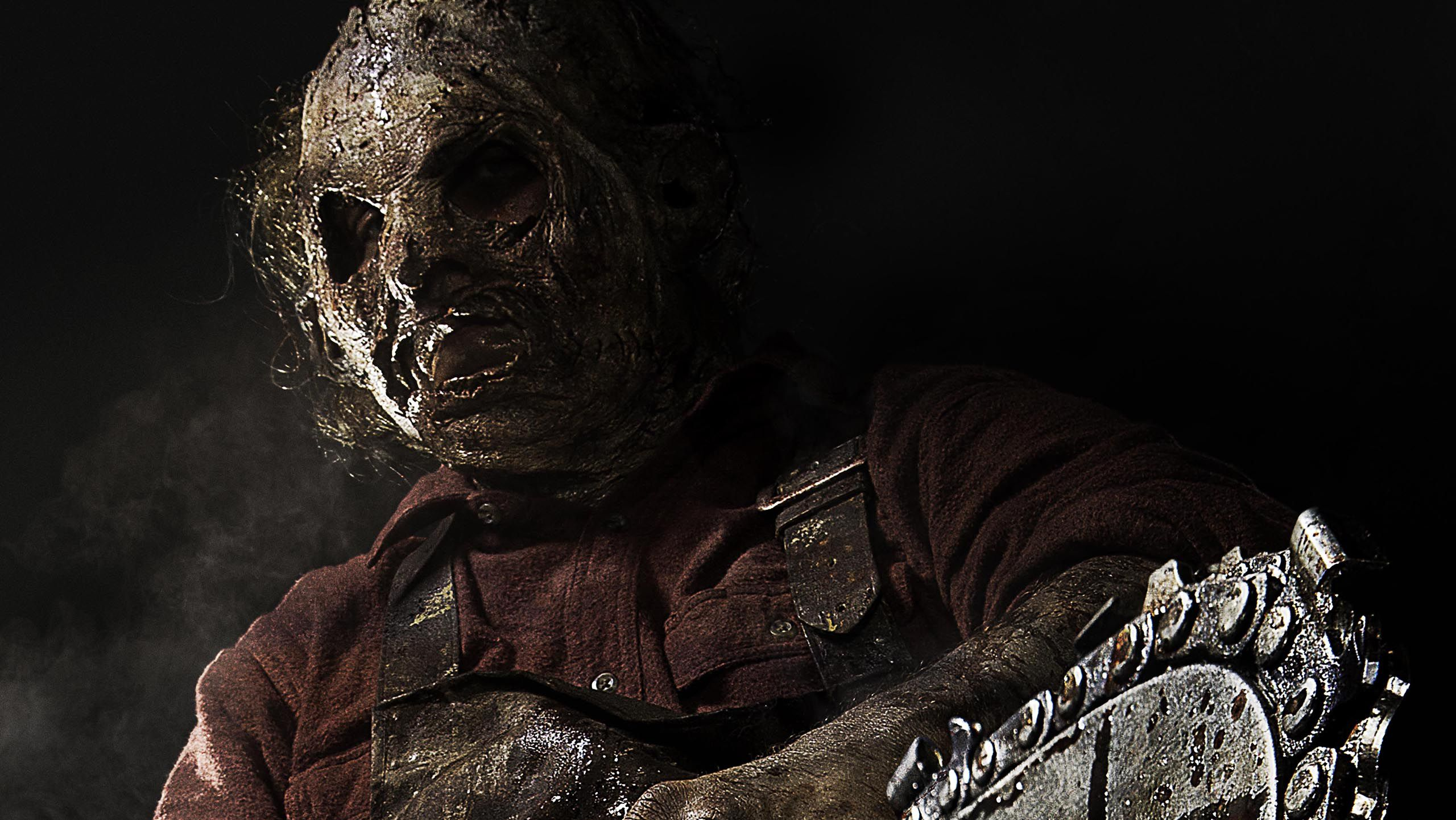 Leatherface nel nuovo poster faccia di cuoio imbraccia - Non aprite quella porta remake trailer ...