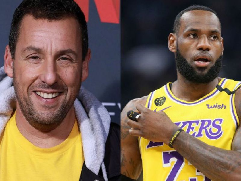 LeBron James vs Adam Sandler: la sfida a colpi di basket nel nuovo film Netflix