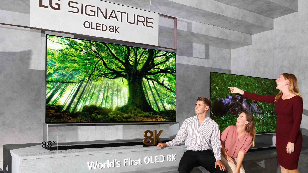 LG annuncia il lancio del primo TV OLED 8K al mondo e NanoCell 8K