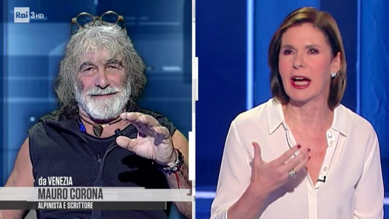 Lite a CartaBianca, Mauro Corona offende la Berlinguer: 'Stai zitta, gallina!'