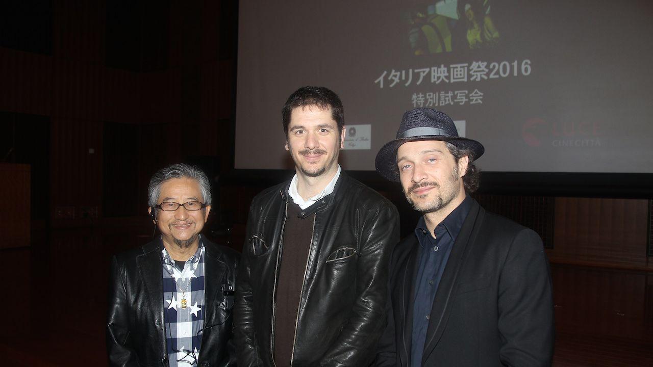 Lo Chiamavano Jeeg Robot: Gō Nagai, Gabriele Mainetti e Claudio Santamaria alla proiezione di Tokyo