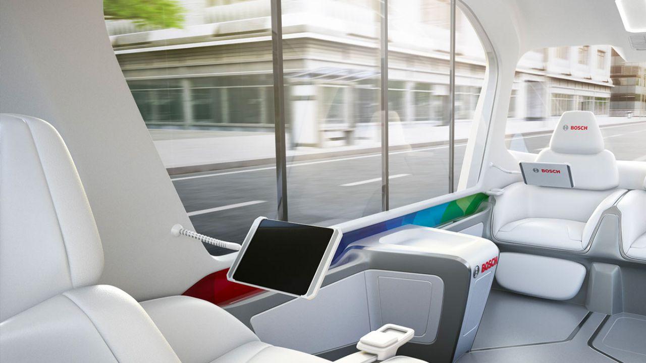 Lo shuttle futuristico di Bosch al CES 2019 in nuove immagini