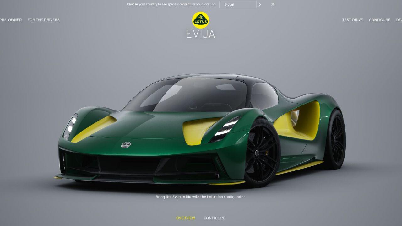 Lotus Evija: disponibile il configuratore della hypercar britannica elettrica