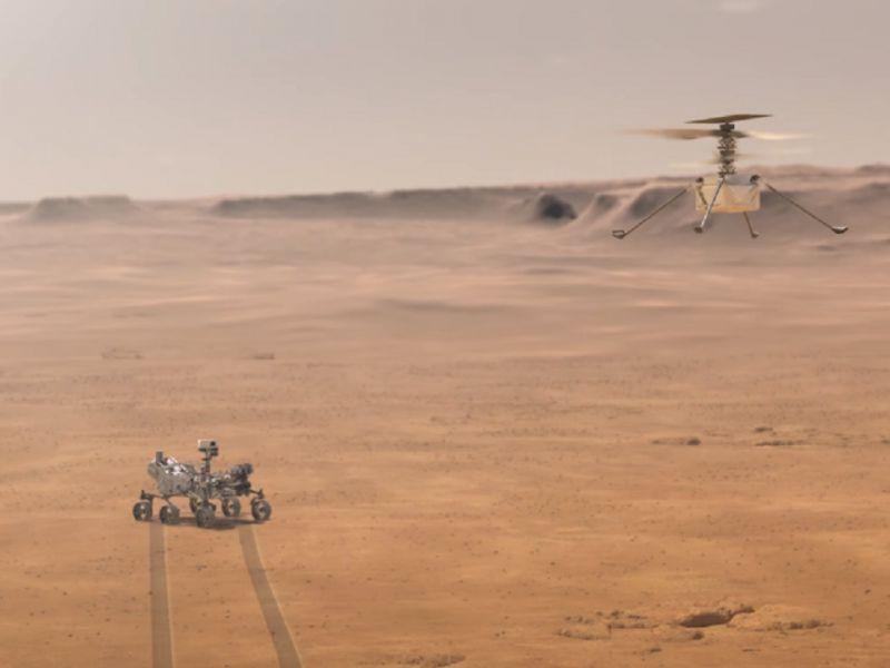 Marte, la NASA testa il mini elicottero per l'imminente lancio: il video